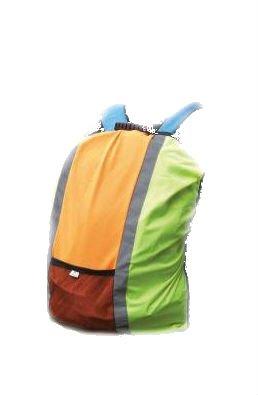 YOKO - housse sécurité pour sac à dos - Jaune et orange fluo - HVW068 - taille unique (pour sac 20 à 60 L) - haute visibilité