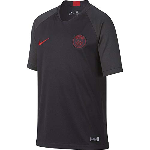 Nike Kinder T-Shirt PSG Y Breathe Strk T-Shirt, Oil Grey/Oil Grey/University R, M, AO6498