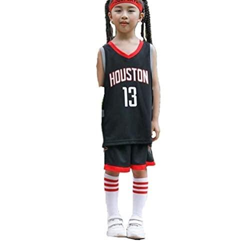 YL JIARO Kinder Herren Basketball Trikots Set - Bulls Jordan 23, Lakers 23 James, Warriors 30 Curry Basketball Jersey Uniform: Mesh Weste Shirt + Sommershorts (Rocket Black,XL for Adult)