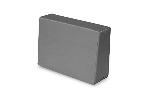 TexDeko Bezug für Schaumstoff, In- & Outdoor Seitenkissen Grau 60x43x20/15cm