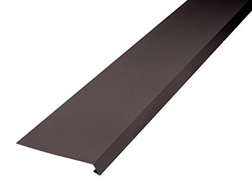 INEFA Strisce per tetto, 200 cm, piegate su un solo lato, in plastica, grondaia, grondaia marrone scuro 200