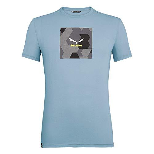 Salewa Herren Hemden & T-Shirts Camou Box Dri-Rel M S/S Tee, Blue Fog Melange, 52/XL, 00-0000027554