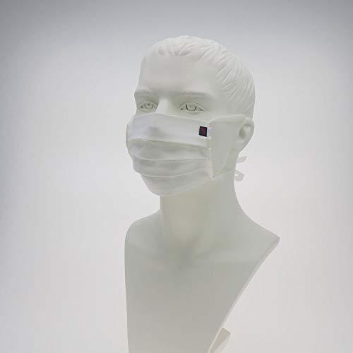 ebos Stoffmaske aus Baumwolle | wiederverwendbar & waschbar | universelle Größe | weiß