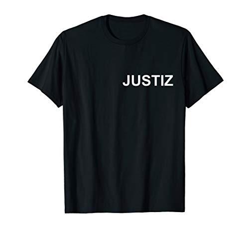 Justiz Shirt I Justizuniform Arbeitskleidung Kostüm Justiz T-Shirt