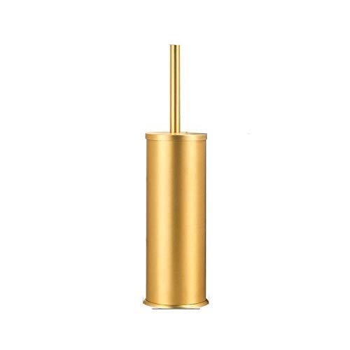 letaowl Escobillas de Baño Oro de Lujo Negro Aluminio Inodoro Cepillo Soporte Conjunto baño baño Cepillo de Suelo de pie baño de Almacenamiento de artículos de la organización Gold