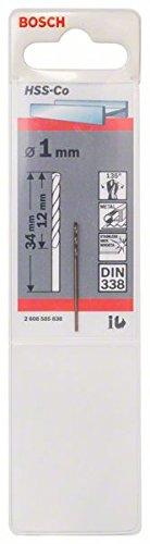 Bosch Professional HSS-Co Metal Drill Bit (stainless steel, 1 x 12 x 34 mm, Accessory Drill Driver)