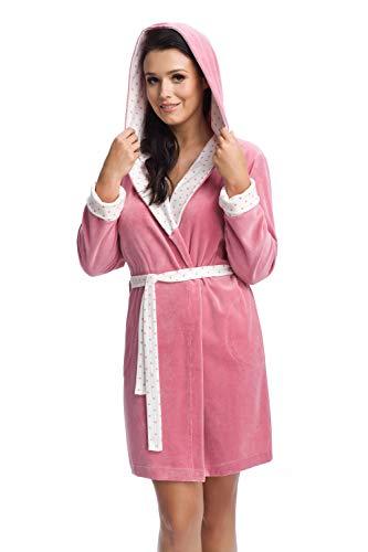 DOROTA trendy en gezellige katoenen badjas met of zonder capuchon, verschillende modellen
