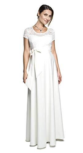 Torelle Maternity Wear Damen Umstandskleid Brautkleid für Schwangere, Modell: Natalie, Creme, XS