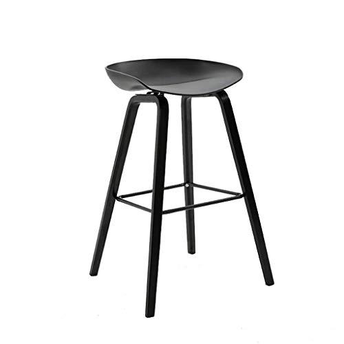 Home Barhocker Barhocker Stuhl Fußstütze Mit ABS Sitz Esszimmerstühle Frühstückshocker Für Küche Restaurant Pub Café Eacute Bartheke Hocker Metallbeine(Color : Grau) (Color : Schwarz)