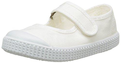 Victoria Mercedes, Zapatillas bajas, cierre de velcro, Unisex niños, Blanco (20 Blanco), 27 EU