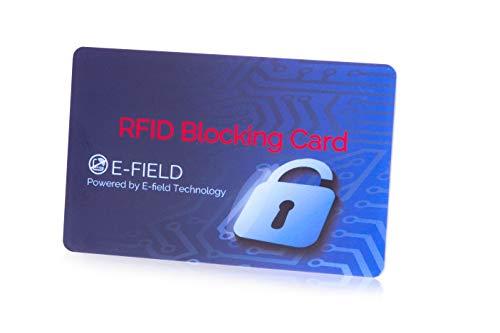 Zelta RFID Blocking Card, Blocker Karte, Sperrkarte, Kartenschutz, Datenschutz, Schutz vor Datenphishing, für EIN sicheres, sorgenfreies kontaktloses Bezahlen