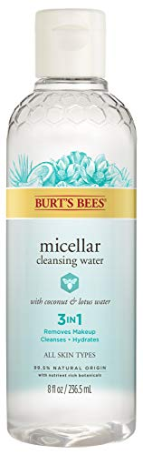 Burt's Bees Micellar Cleansing Water with Coconut & Lotus Extract, 8 Oz (Package May Vary)