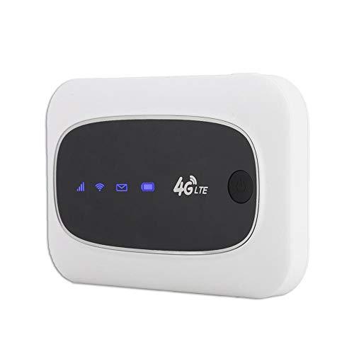 4G LTE Mobiles WLAN-Modem Mini-WLAN-Router Tragbarer WLAN-Router mit Tasche Hotspot für Innen- und Außenanwendungen, Reisepartner-Modem-WLAN-Gaming-Router(Weiß)
