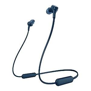 Sony WI-XB400 Extra Bass Wireless in-Ear Headphones (Blue) with Knox Gear Hardshell Earphone Case (2 Items)