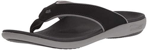 Spenco Women's Yumi Plus Sandal, Onyx, 9 Medium US