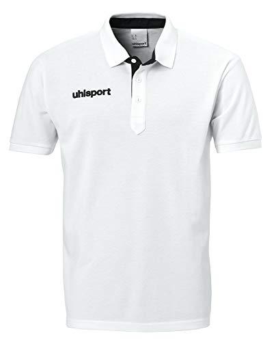 uhlsport Herren Poloshirt Essential Prime Polo Shirt, Weiß/Schwarz, 5XL, 100214909