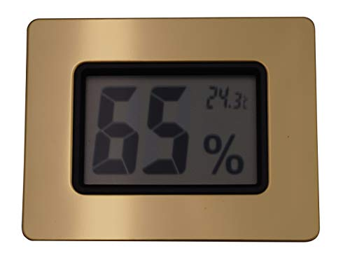GERMANUS Humidor Hygrometer, digital, Gold I, kalibrierbar