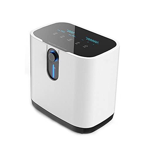 DQXMM Concentrador de oxígeno portátil, 1-7L / Máquina de oxígeno para el hogar Inteligente de Flujo Ajustable, Control de Tiempo/Control Remoto inalámbrico 110 / 220v