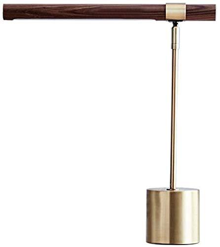 Lámpara de mesa Lámpara de mesa Lámpara de escritorio Creativa Textura de Madera Industrial Metal Color Lámpara Dormitorio Mesa de noche Lectura Lámpara de mesa Decorativa Dedside Lámpara Metálico