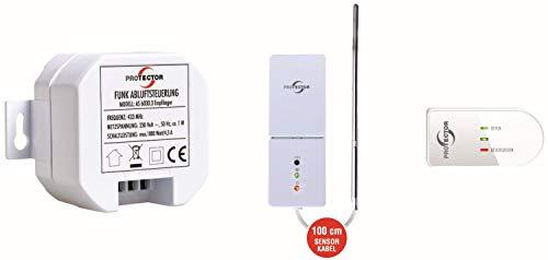 Bielmeier V Funk-Komfort-Abluftsteuerung mit Thermo-Sensor-Einheit/Sender weiß/braun 854055