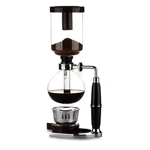 Glas Siphon Kaffeemaschine, Tisch Syphon Kaffeemaschine Kessel Topf mit Silikon Griff Alcohol Burner, für Home Office 5-Cup