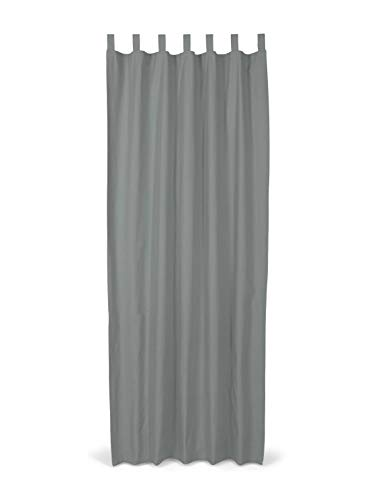 TOM TAILOR Unisex Home Schlaufenschal Vorhang Unifarben Grey,140/255,I700,2500