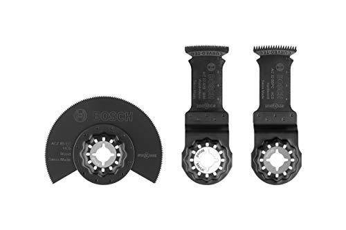 Bosch Professional 3 tlg. Starlock Tauchsägeblatt Set (für Holz und Metall, Zubehör Multifunktionswerkzeug)