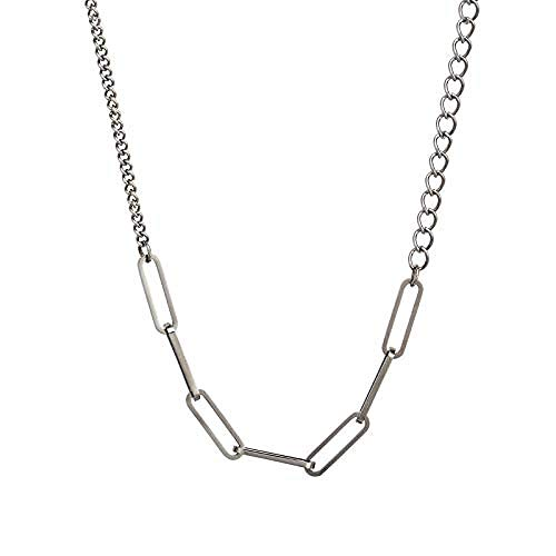 huangxuanchen co.,ltd Collar Collar Europeo Y Americano Collar Versátil De Personalidad Simple De Clavícula Femenina