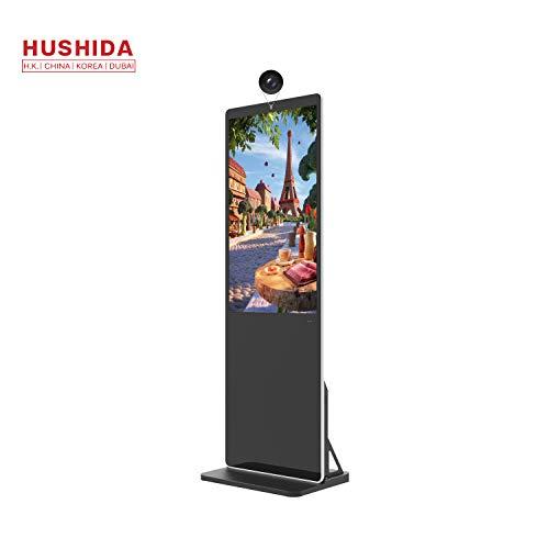 Review HUSHIDA 43 inch Floor Standing 36.7mm Slim Advertising Display with Camera, 1080pDigital Sign...
