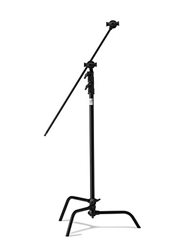 Kupo 40in Master C-Stand with Sliding Leg Kit (Stand 2.5in Grip Head & 40in Grip Arm with Hex Stud) - Black (KS704011)