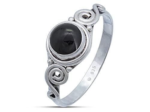 Anillo de plata de ley 925 ónice (No: MRI 115), Ringgröße:50 mm/Ø 15.9 mm