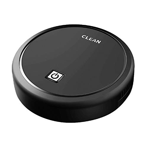 Robot Vacuum Cleaner Floor Sweeper Clean Home Vacuum Cleaner Function Powerful Cleaning (Black)