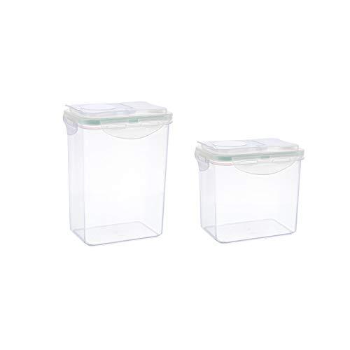 HARVESTFLY Vorratsdosen Schüttdosen Set mit Klappdeckeln, 2-teilig, 1 Liter und 1,8 Liter,100{b8ace77851a586fabc04c54c65a3835ffa8f15d0b0359cdd91f2dedb79e6ea37} recyclebar, ideale Größe z.B. als Müslispender, für Cornflakes oder Vorratsbehälter