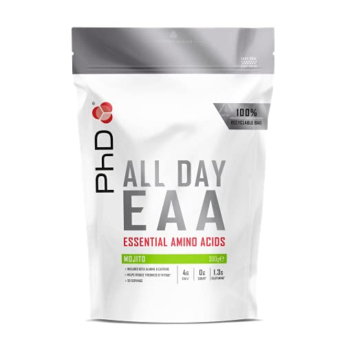 PhD Nutrition All Day EAA, Eseential Amino Acids powder, Mojito, 300 g