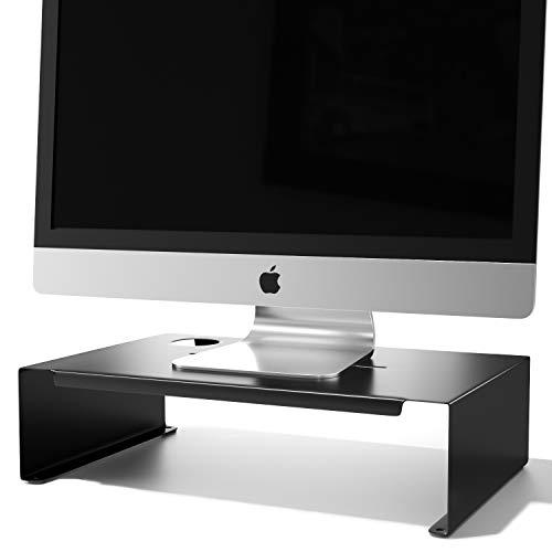Newaner Soporte Monitor, Alzador pantalla, Elevador para iMac PC portatil compatible con 22-32 pulgadas Monitor incluyendo Hp Acer Aoc Asus Sumsung msi Lg Dell Lenovo, hasta 30 kg, Negro