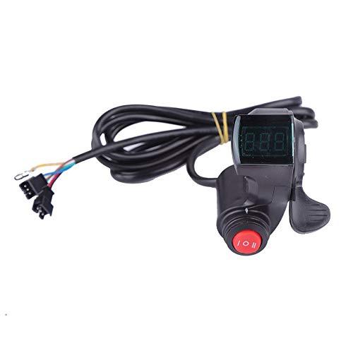 VGEBY1 Acelerador de Pulgar, Acelerador de Pulgar de Bicicleta eléctrica con Interruptor...