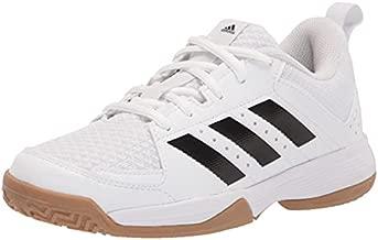 adidas Ligra 7 Track and Field Shoe, White/Black/White, 4 US Unisex Big Kid