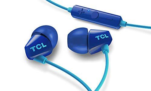 TCL SOCL100BT Wireless In-Ear Kopfhörer mit Mikrofon (Bluetooth 4.2, Schnellladefunktion, Geräuschisolierung, Echounterdrückung, Steuerung von Musik & Anrufen, 6 Stunden Akkulaufzeit), Ocean Blue