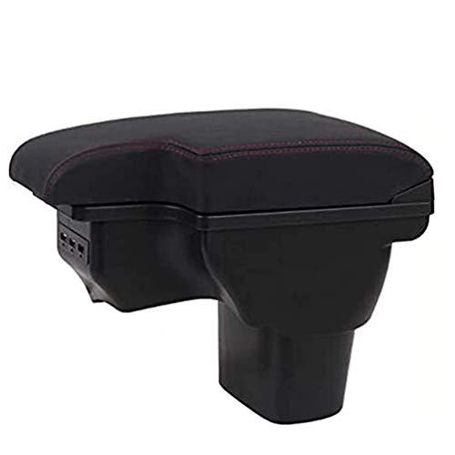 PU Cuero Coche Apoyabrazos Caja, para Nissan Juke Central Consolas Impermeable Almacenamiento Armrests Storage Box, Car Interior Styling Accesorios