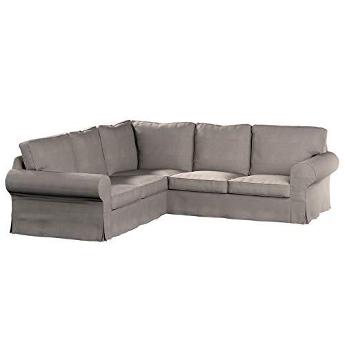 Dekoria Ektorp Ecksofabezug Sofahusse passend für IKEA Modell Ektorp beige-grau