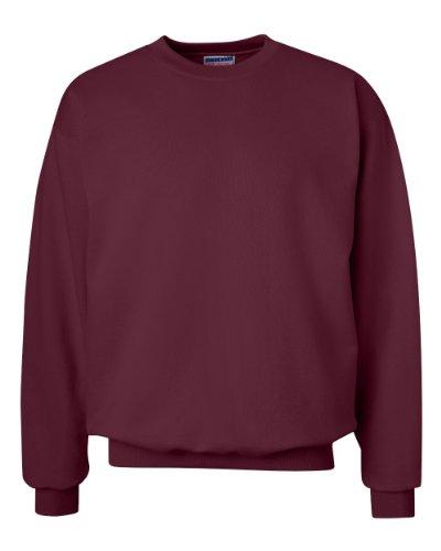 Hanes 90/10 Cotton/Polyester 10.2oz. Ultimate Cotton - Crewneck, Large-Maroon