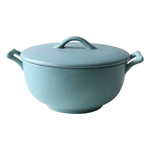 WSHFHDLC Cuenco de la Cultura Popular Cubierta Mate ensaladera Plato de Fideos instantáneos Ramen Plato de Sopa Cuenco de la Cultura Popular (Color : Blue, Size : 6 Inches)