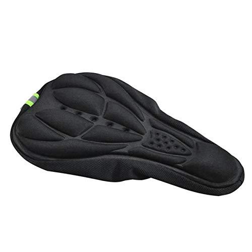 Kurphy - Funda para sillín de bicicleta (silicona), antideslizante, almohadilla suave, gruesa, absorción de golpes, color negro