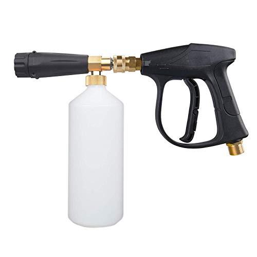 Manyao Lavadora de presión Jet Wash liberación rápida de la Nieve de Espuma Lanza, 3000 PSI Lavadora de Alta presión Spray-, M22 Rosca 1/4