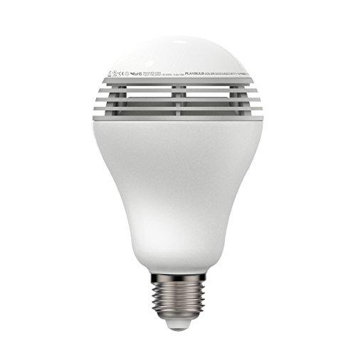 MiPow Playbulb Color Smart-Home LED-Glühbirne mit integriertem Lautsprecher (3 Watt Sound, 5 Watt RGB-LED, Sockel E27) mit App-Steuerung für Android/Apple iPhone