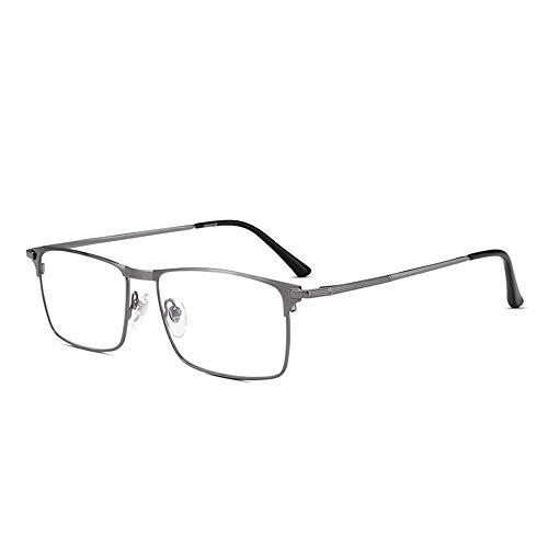 CAOXN Gafas De Lectura Anti-Fatiga De Luz Azul Moda para Mujer Gafas De Hipermetropía De Presbicia De Marco Completo De Aleación Ultraligera con Dioptría De 1.0 A 3.0,Plata,+3.00