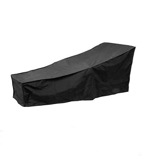 PUDDINGHH® Housse pour Chaise Longue Exterieur, Anti-UV/Anti-Vent/Imperméables Tissu De 210D Oxford Housse De Protection Bain De Soleil, Transat Jardin - Noir