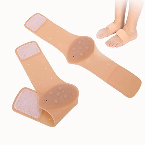Silicone Orthotic Insoles, Silicone Orthotic Feet Foot Arch Support Cushion Shoe Insoles Pads for Flat Foot Sore Relieve Support Cushioned Arch and Heel Spurs (Skin Color)
