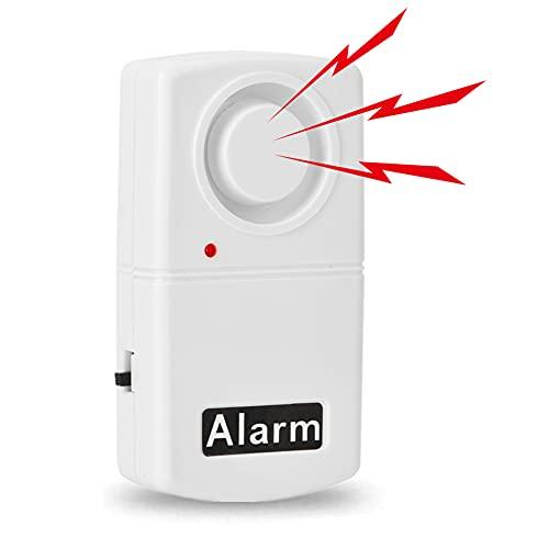 Allarme per porta senza fili Allarme per suoneria, Allarme per finestra di sicurezza, Allarme per finestra senza fili 120dB Allarme per vibrazione per Home Garage Negozio Negozio