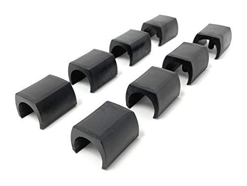 Design61 Klemmschalengleiter 8er Set Stuhlgleiter Bodenschongleiter Ø 23-25 mm Silencer Möbelgleiter